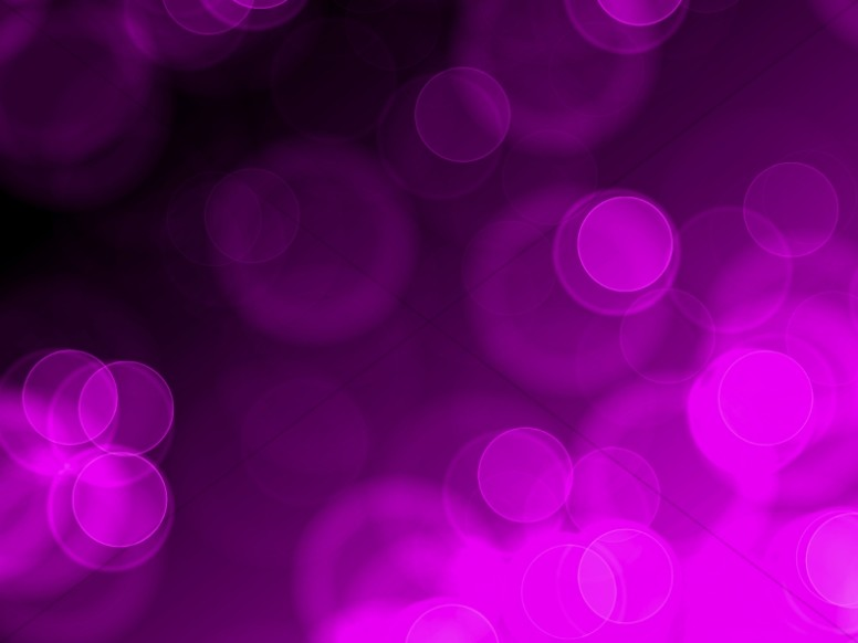 Purple Circles Bokeh Worship Backgrounds