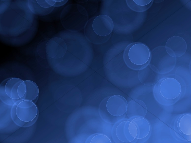 Blue Circles Bokeh Worship Background