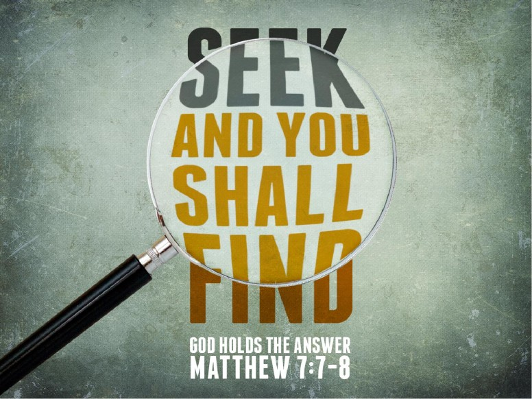 Seek and You Shall Find PowerPoint Sermon Template