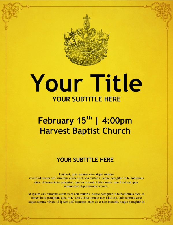 Crown Church Flyer Template