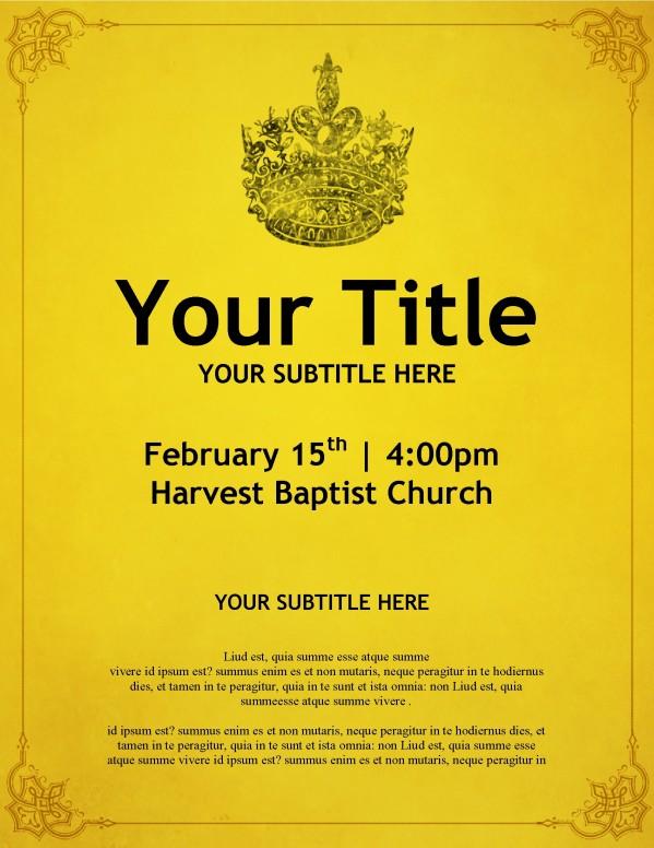 Crown Church Flyer Template