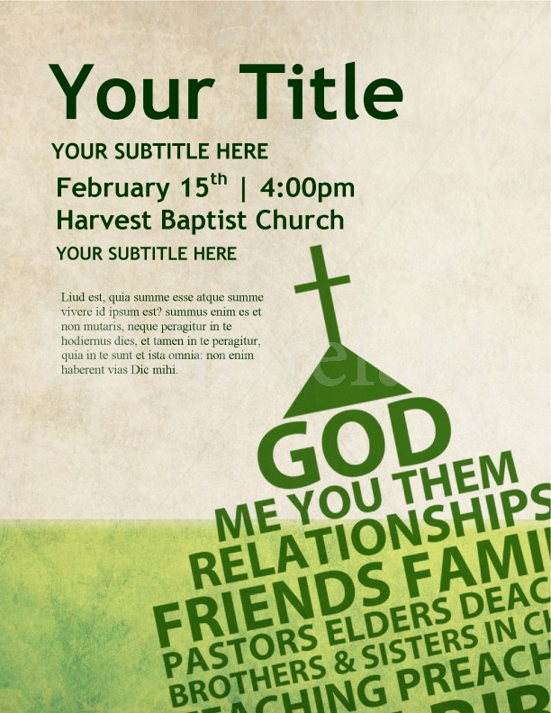 Flyer Template for Church