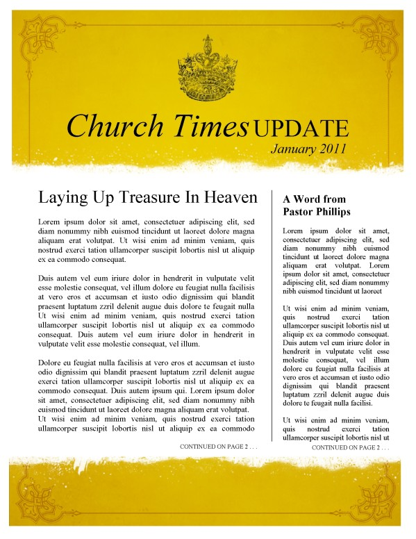 Royal Church Newsletter Template