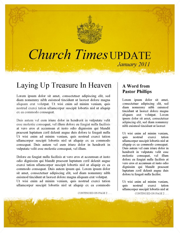 Royal Church Newsletter Template