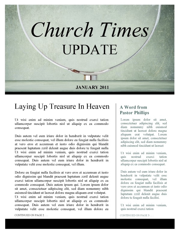 Magnifying Glass Church Newsletter