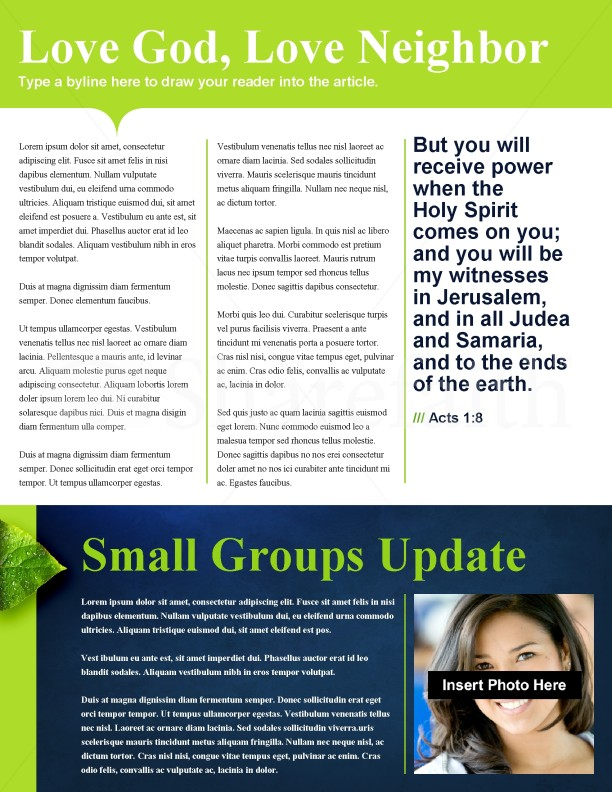 Creation Church Newsletter Template