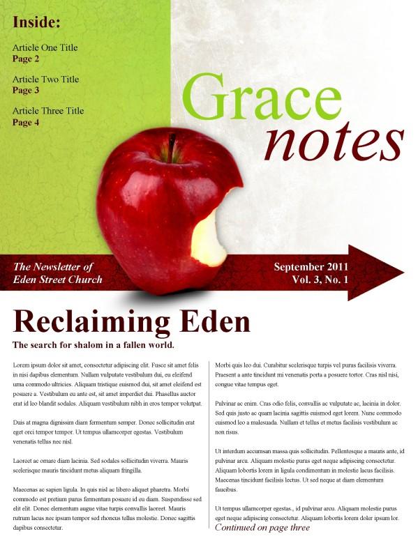 Apple Church Newsletter Template