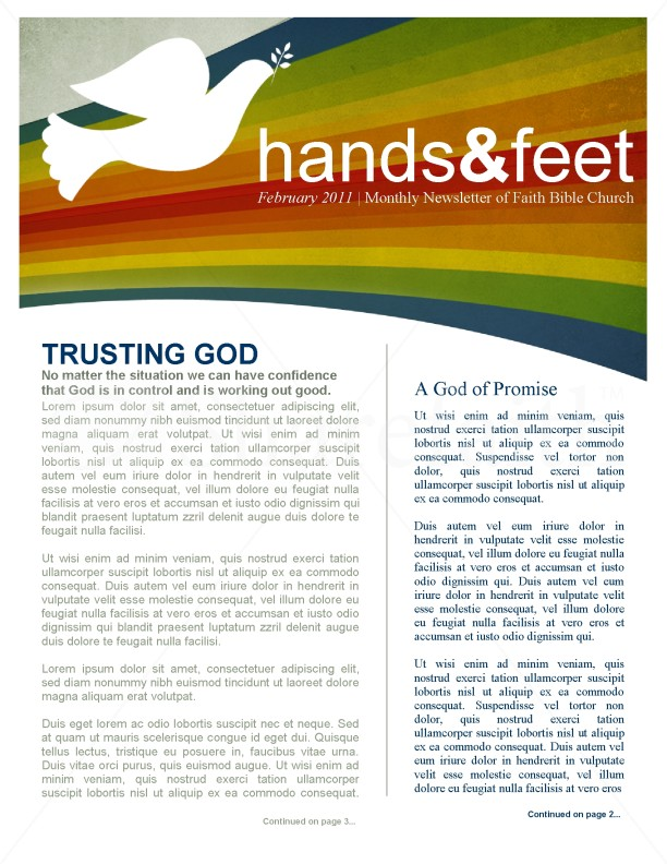 Covenant Church Newsletter | page 1