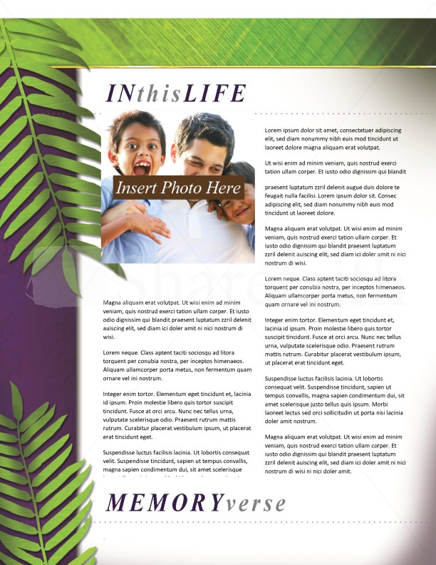 Palm Sunday Church Newsletter Template