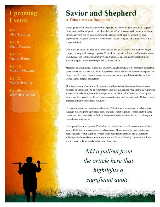 Shepherd Church Newsletter   page 2
