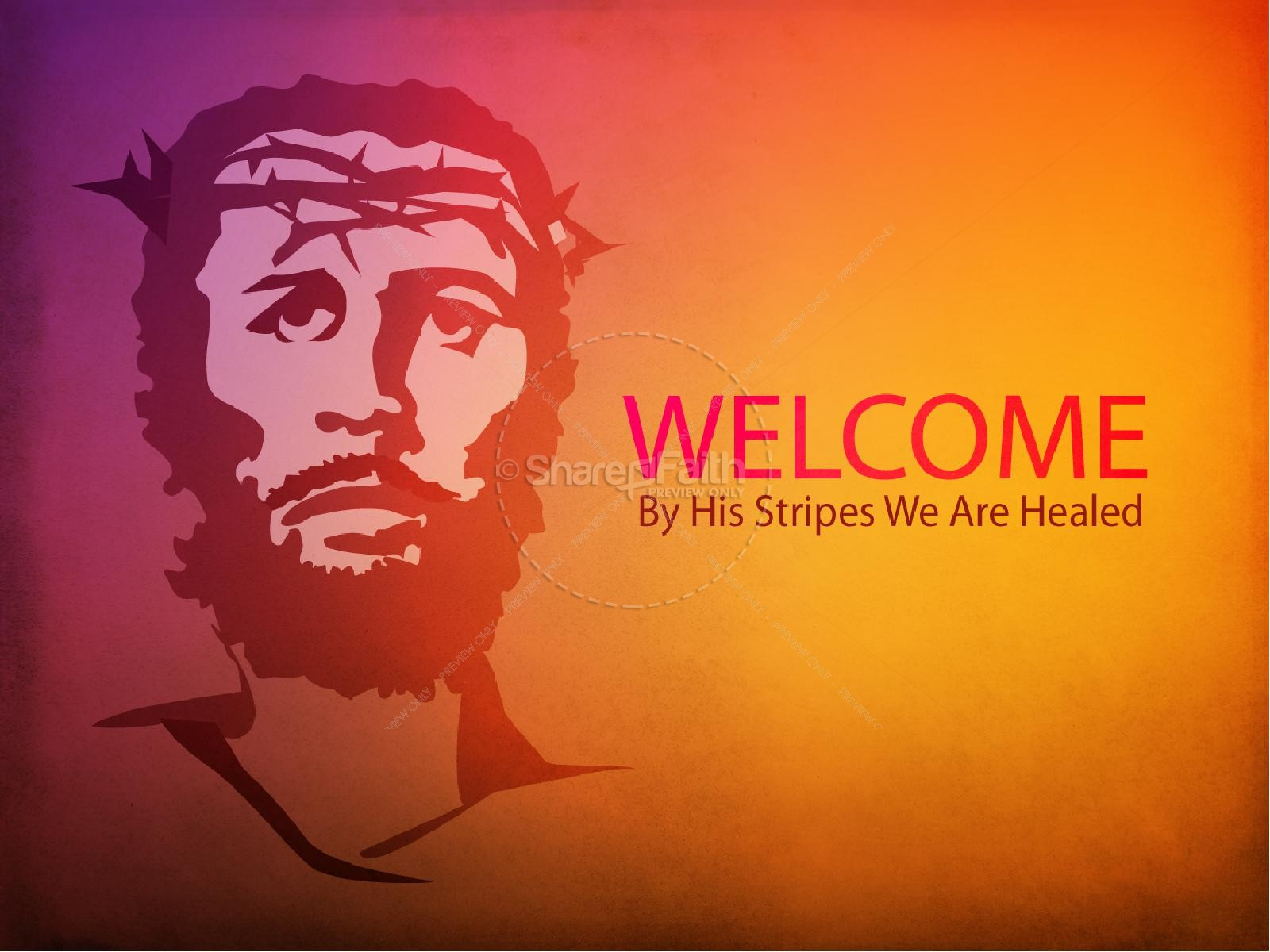 Jesus on the Cross PowerPoint Template