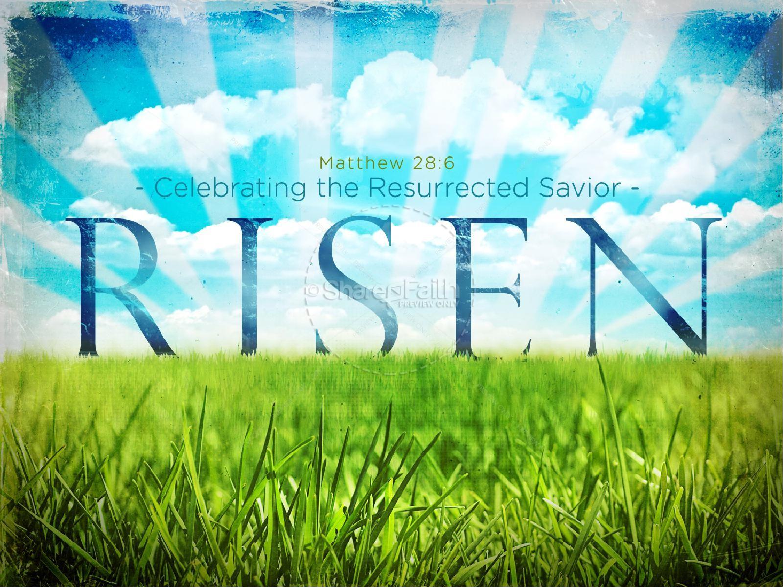 Risen Savior Easter PowerPoint | slide 1