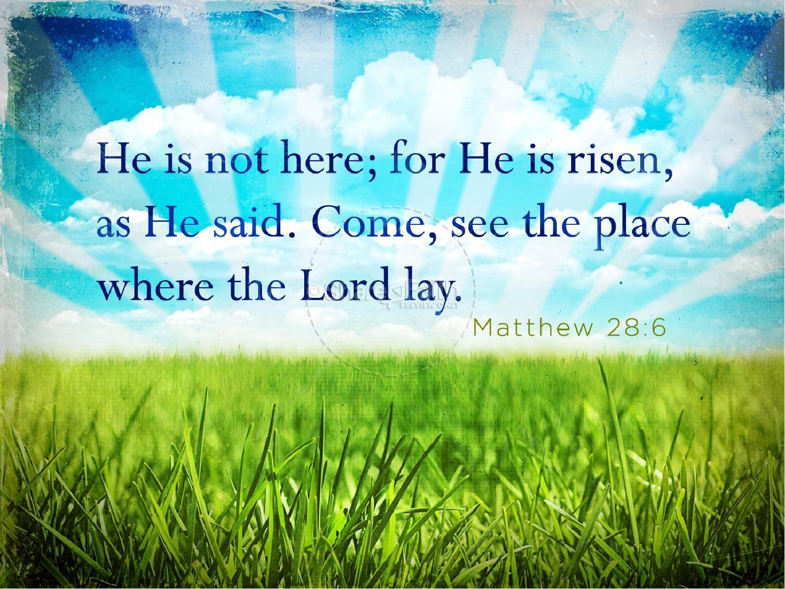 Risen Savior Easter PowerPoint | slide 2