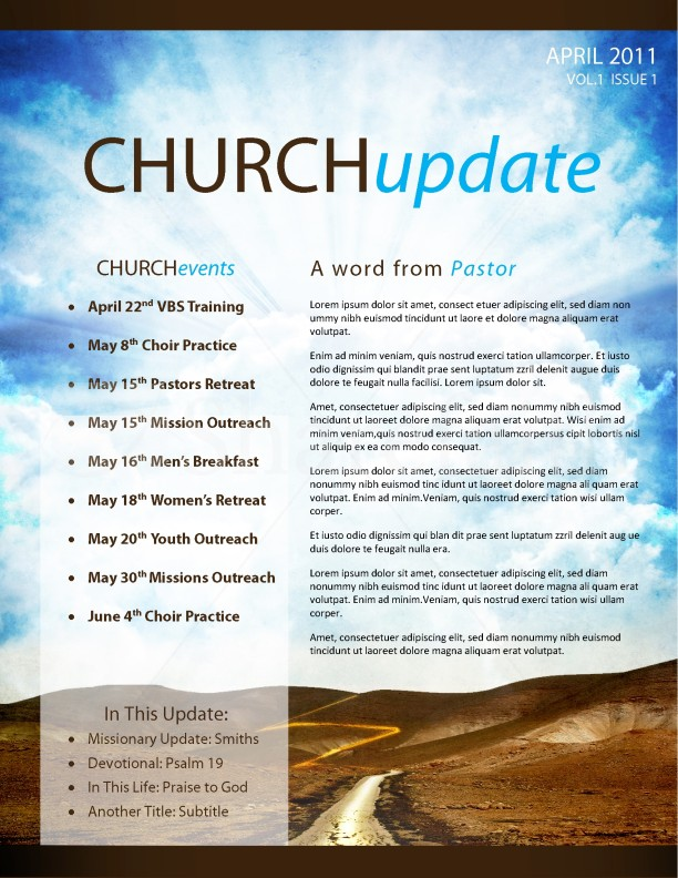Pathway church newsletter template template newsletter for Free templates for church bulletins