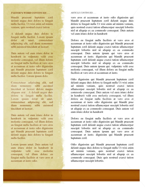 Worshipper Newsletter Template for Church | page 2