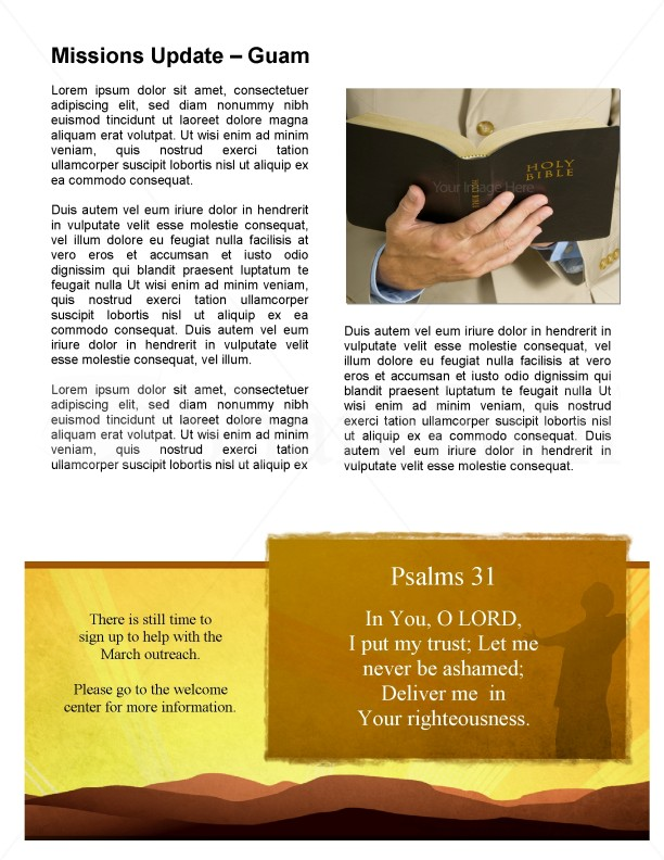 Worshipper Newsletter Template for Church | page 3