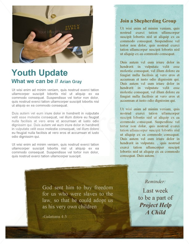 Newsletter Template for Church
