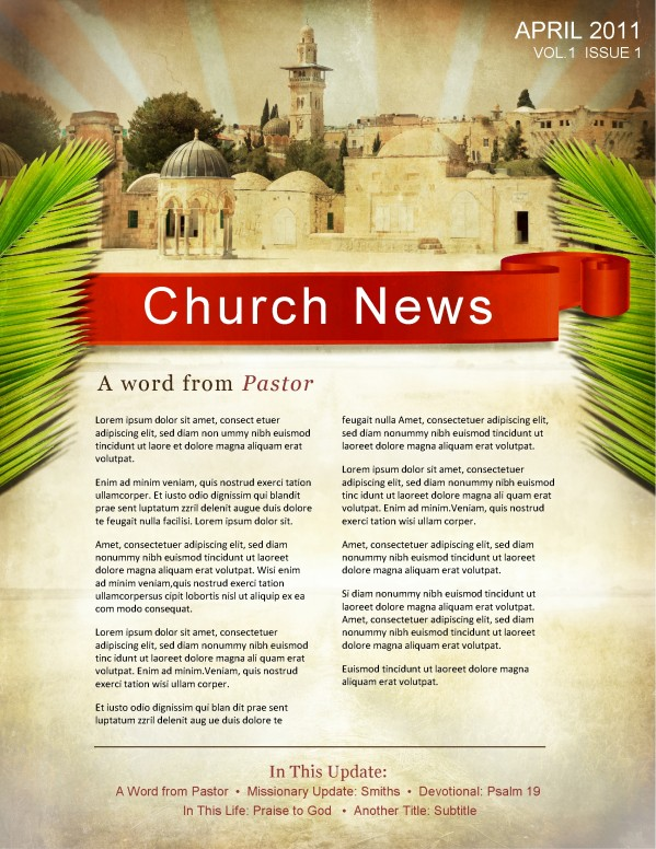 Palm Sunday Jerusalem Newsletter