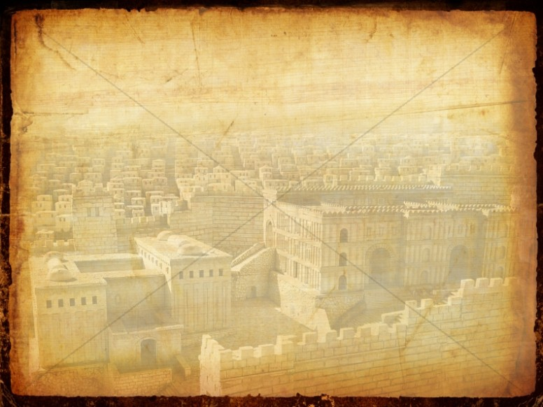 Jerusalem Parchment Worship Background