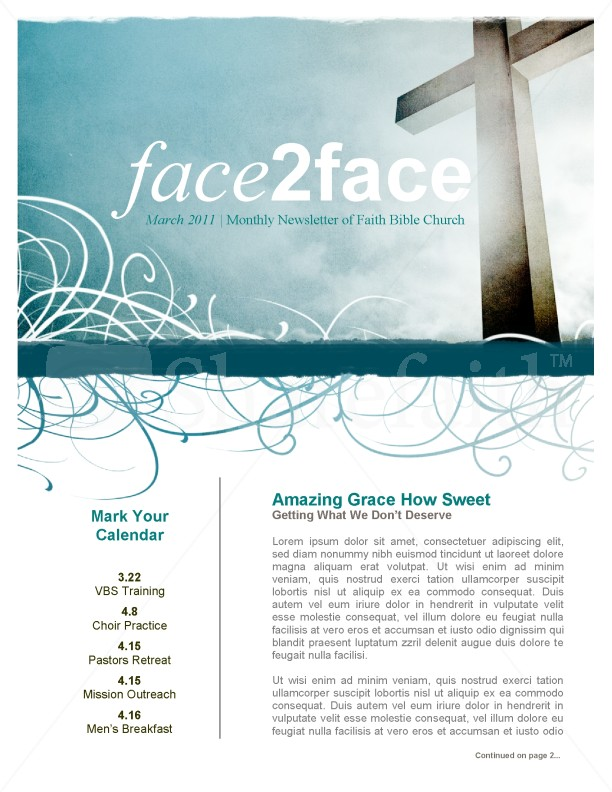Amazing grace church newsletter for Church bulletin templates for word