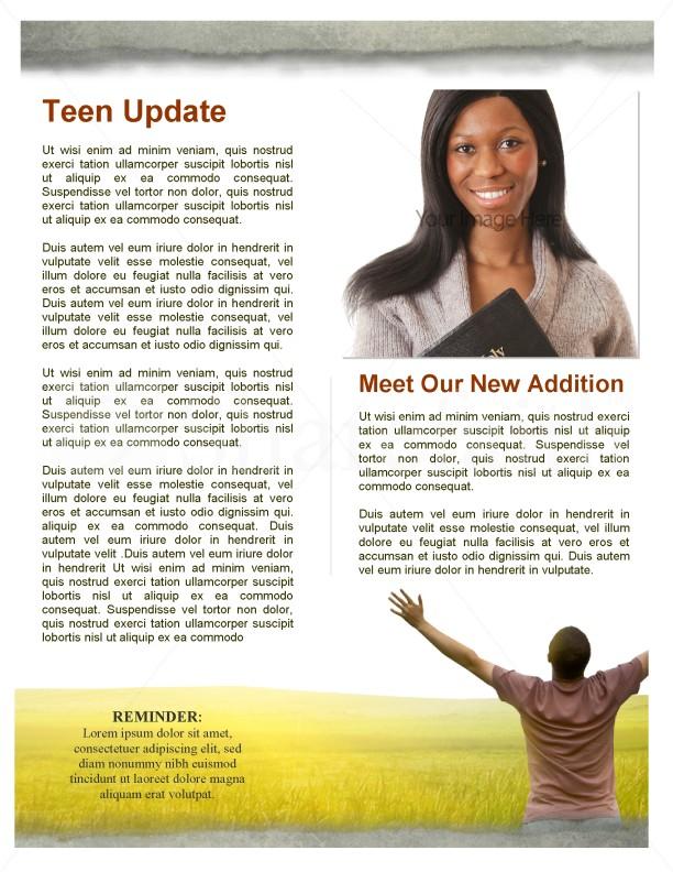 Worshipper Church Newsletter Template