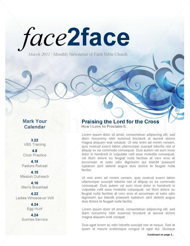 Spring Church Newsletter Template  Newsletter Templates