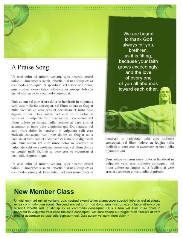 Jesus Love Church Newsletter Template