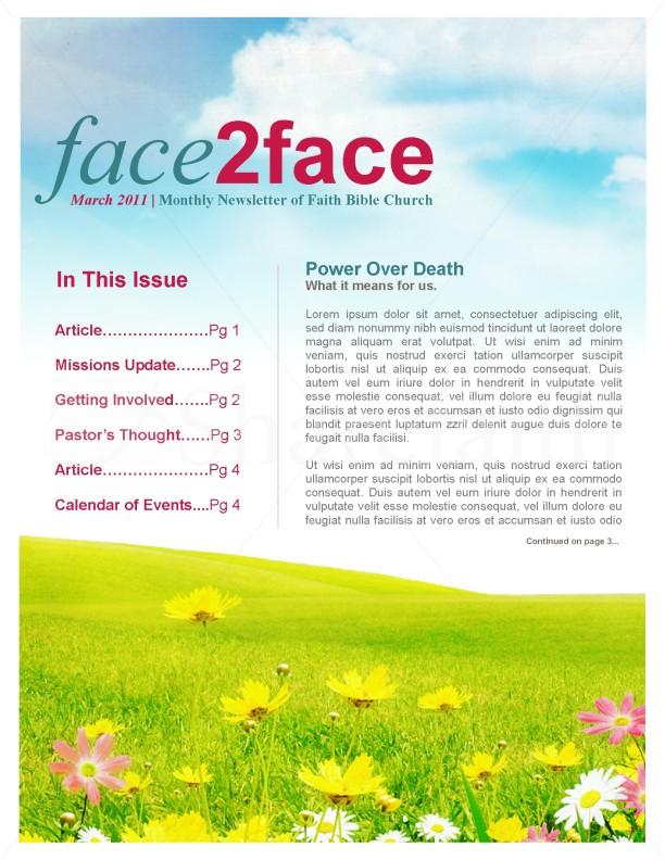 spring newsletter template newsletter templates