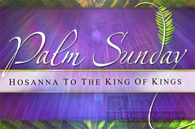Palm Sunday Hosanna Church Video Loop