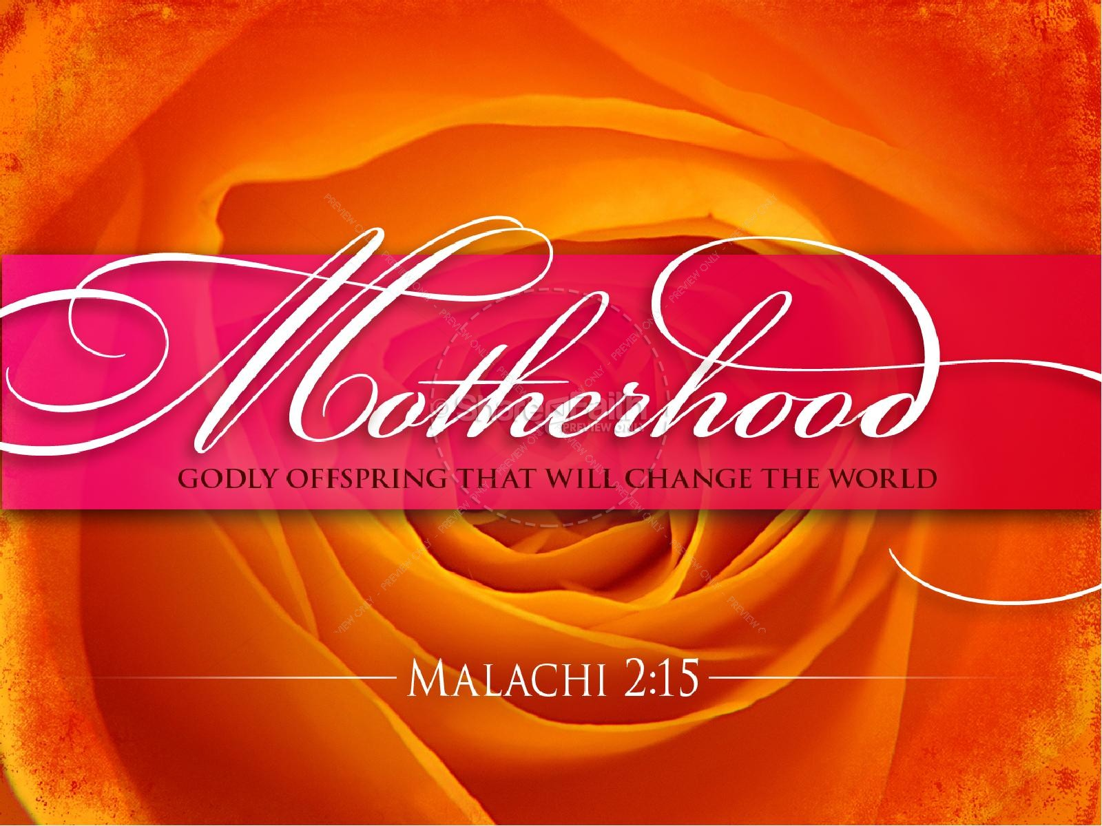 Motherhood PowerPoint Sermon