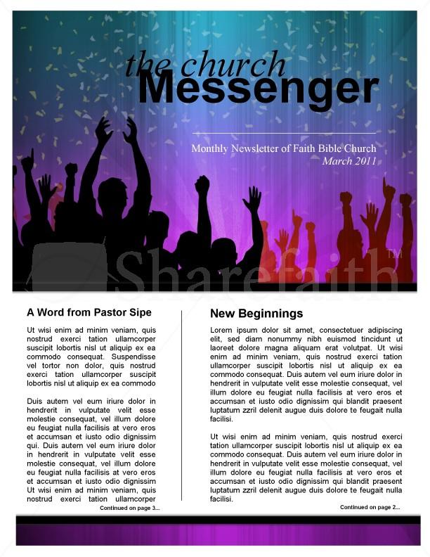 Celebration Church Newsletter Template Template  Newsletter Templates