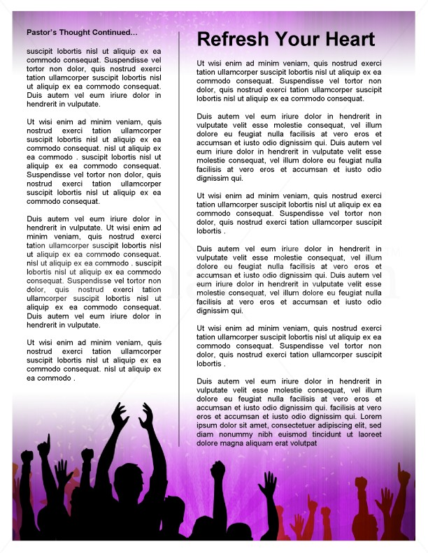 Celebration Church Newsletter Template | page 4