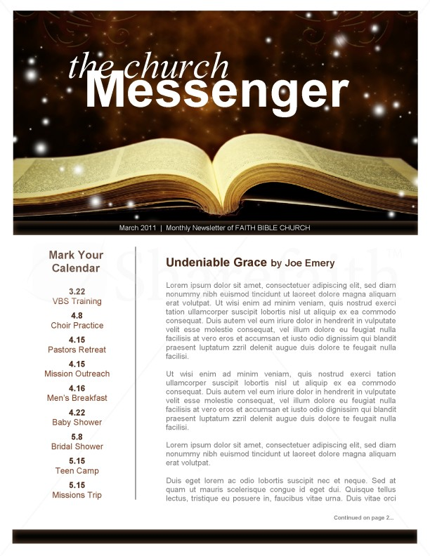 Bible Ministry Newsletter Template