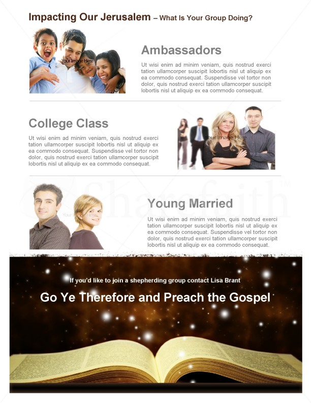 Bible Ministry Newsletter Template | page 4
