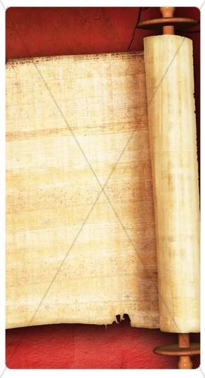 Bible Scroll Banner Widget