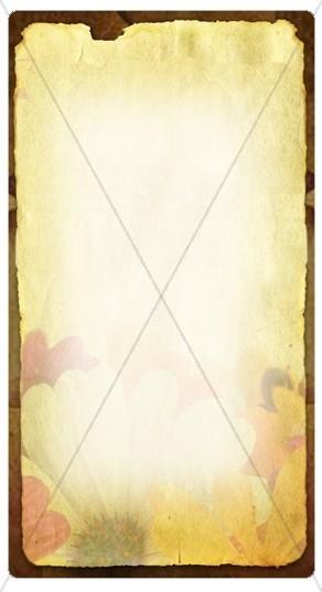 Floral Banner Widget
