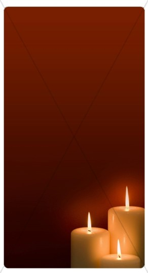 Three Candles Banner Widget