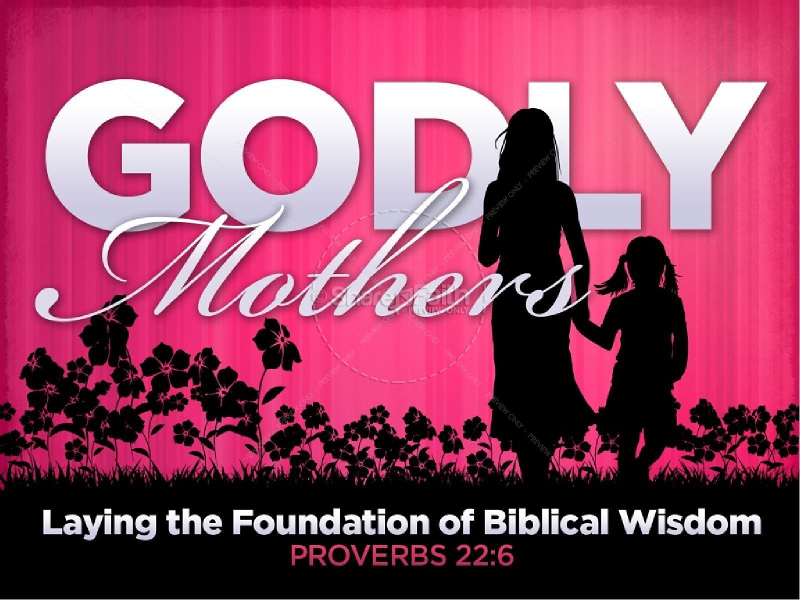 Godly Mother PowerPoint Sermon | slide 1