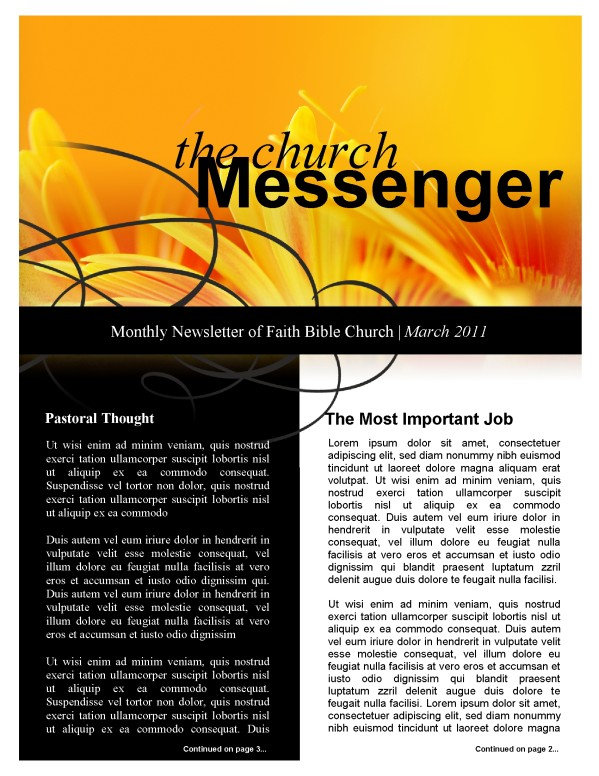 Orange Flower Church Newsletter