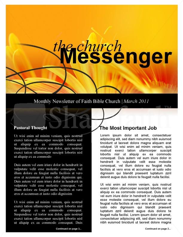 Orange Flower Church Newsletter