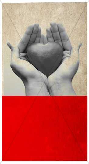 Heart and Hands Banner Widget