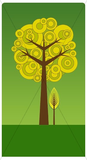 Contemporary Tree Banner Widget