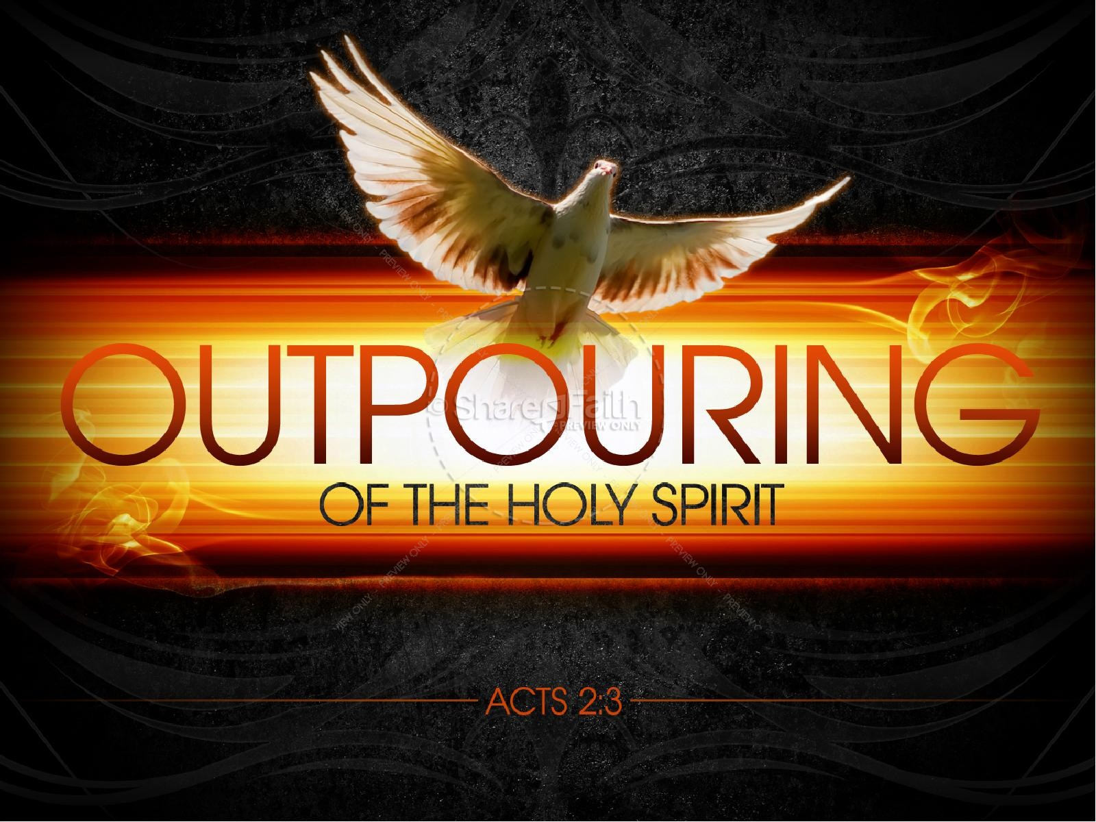 Outpouring of the Holy Spirit PowerPoint Sermon | slide 1
