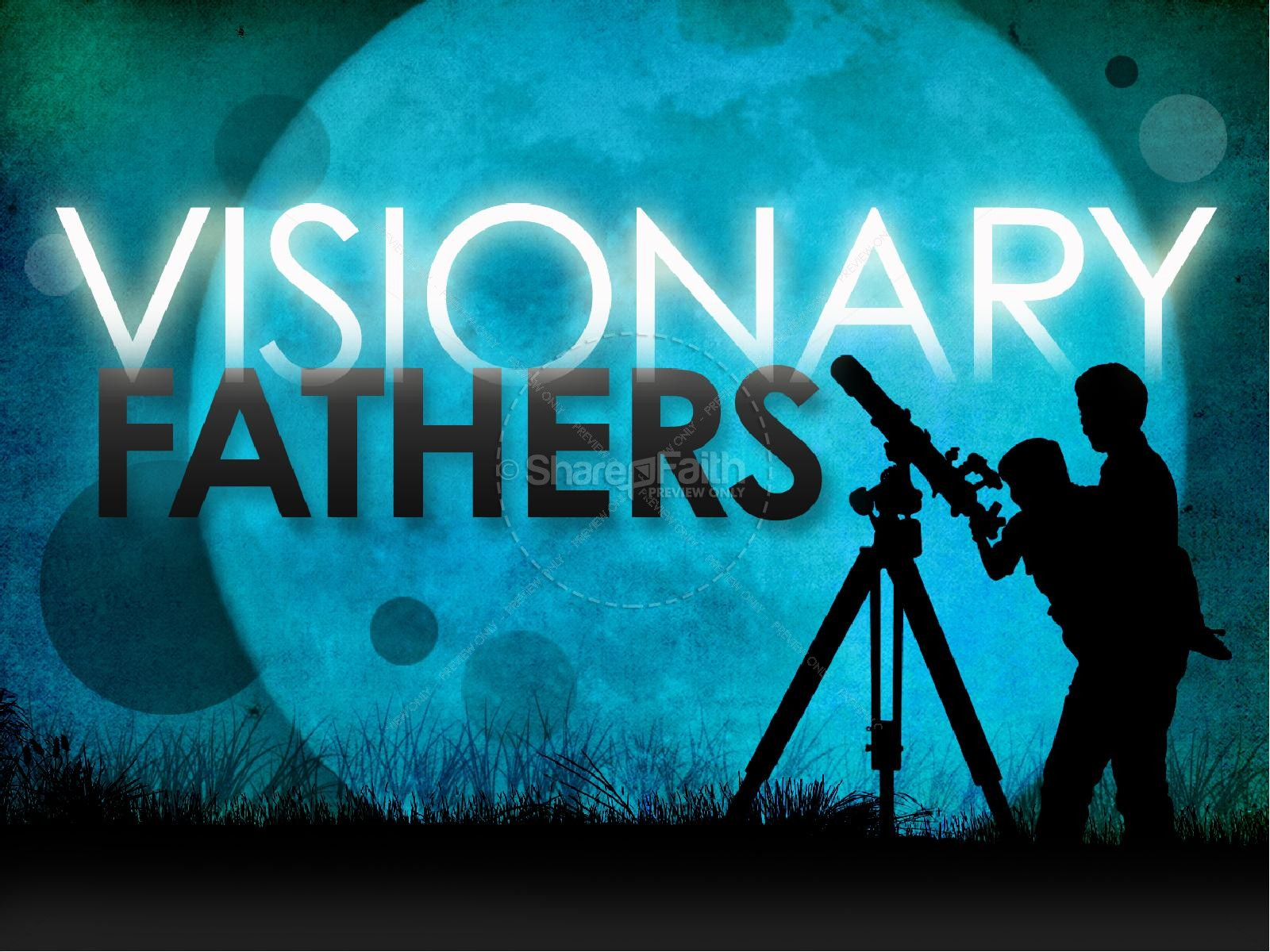 Visionary Father's Day PowerPoint Template | slide 1