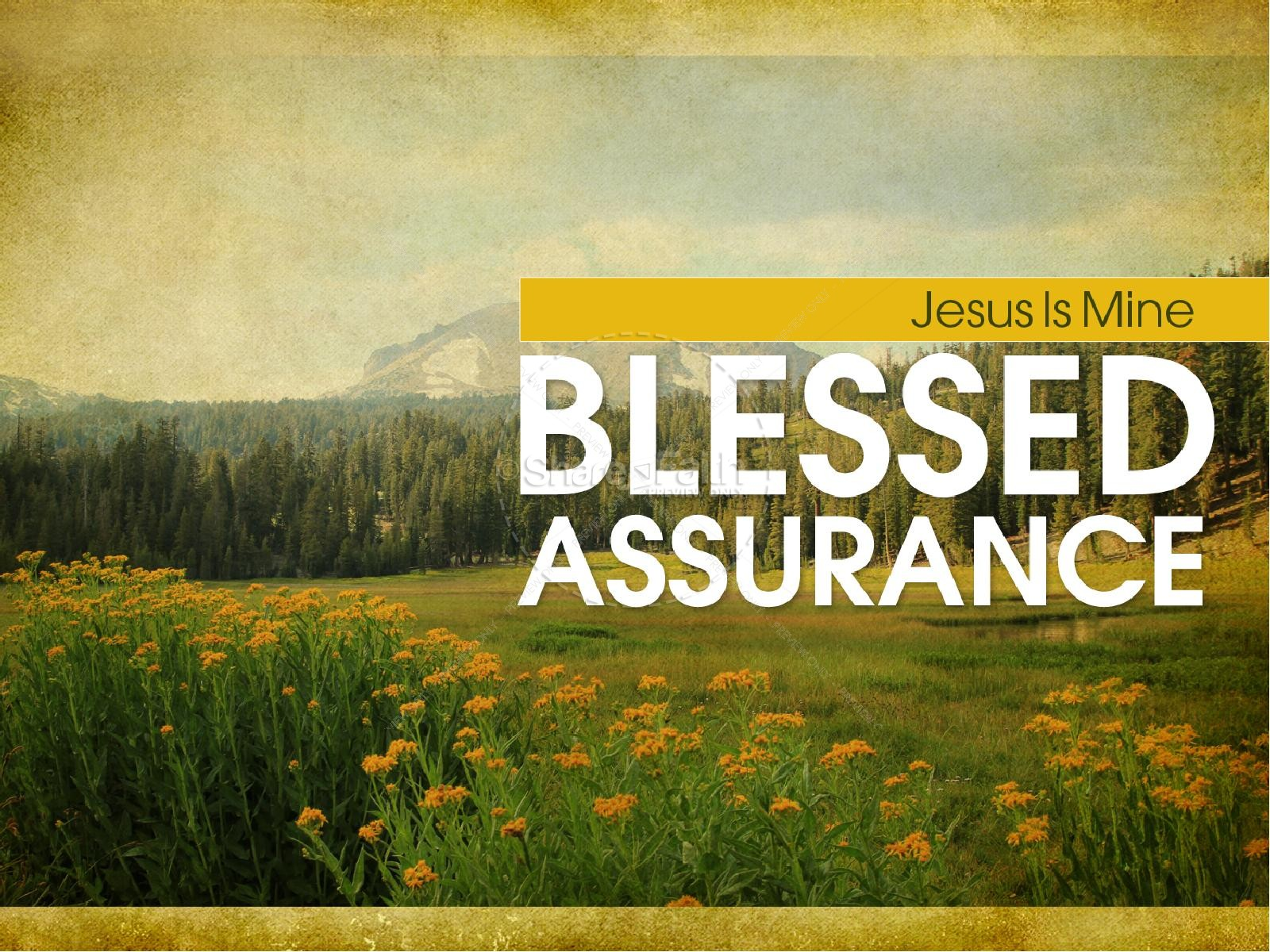 blessed assurance powerpoint sermon powerpoint sermons