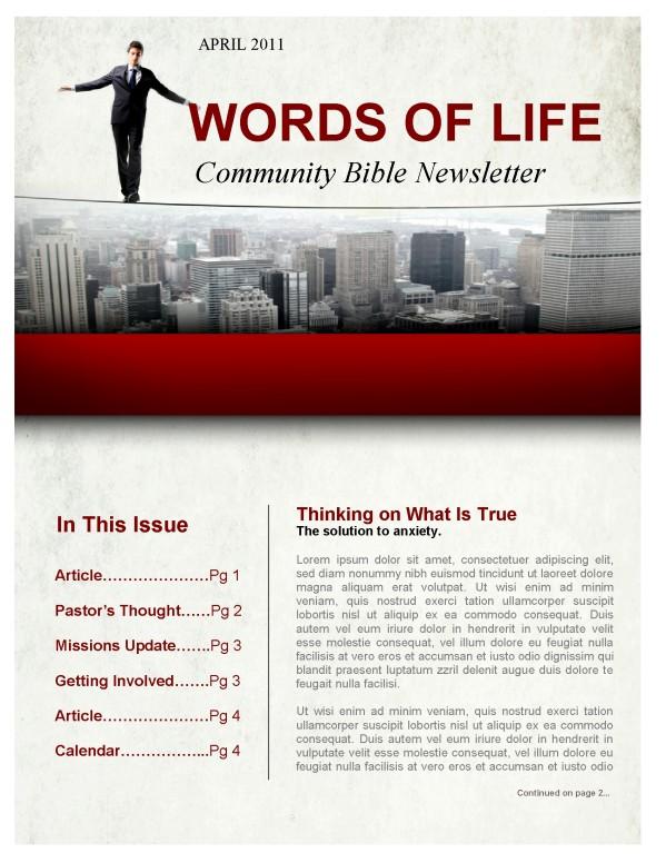 Fear Church Newsletter