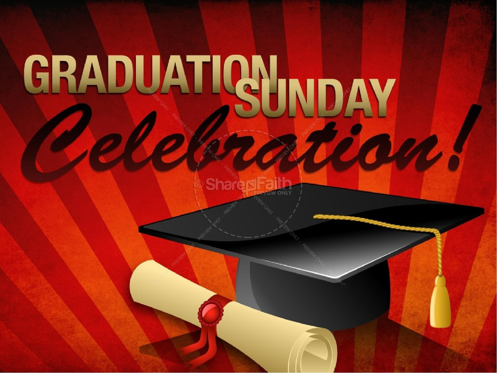 Graduation Sunday Powerpoint | Graduation Day PowerPoints