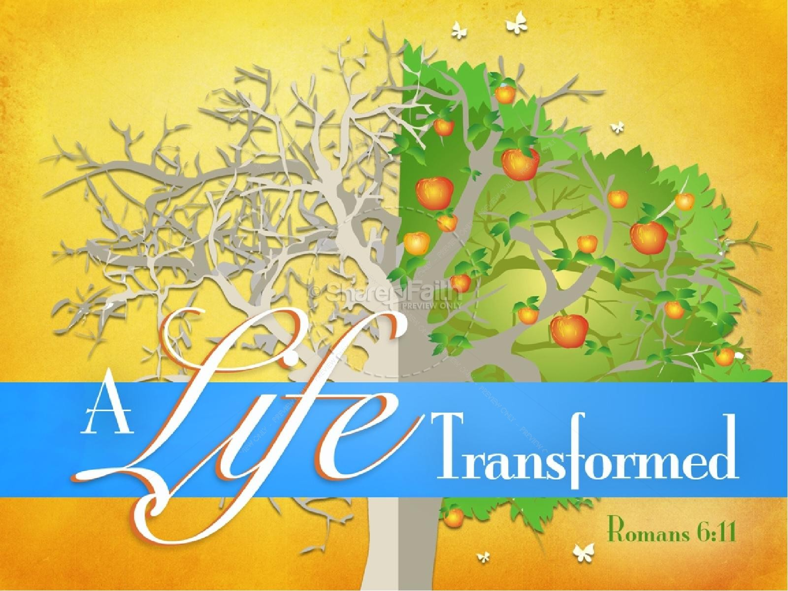 Transformed Life PowerPoint Sermon | slide 1