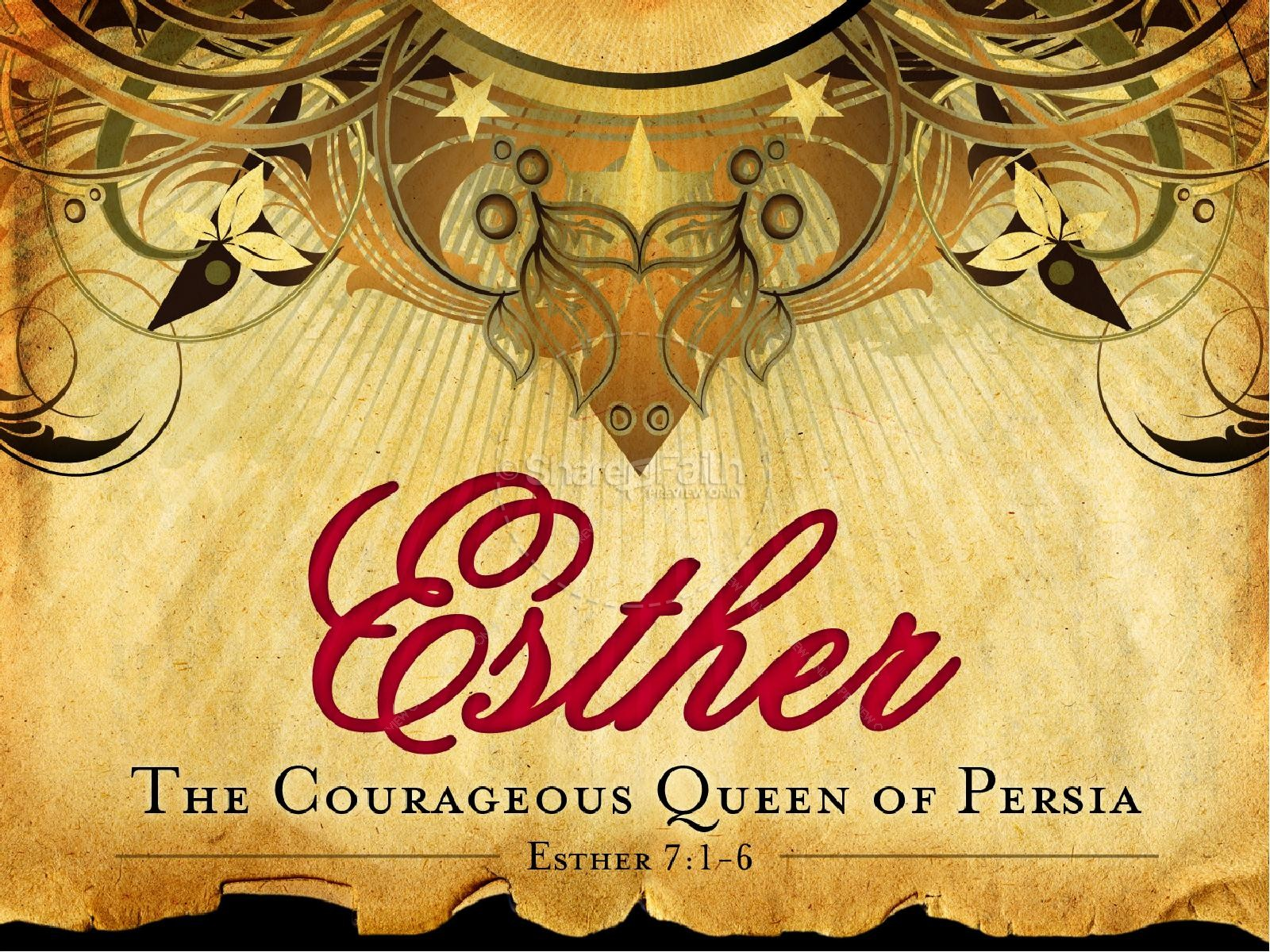 Esther Queen Of Persia PowerPoint template Women of the