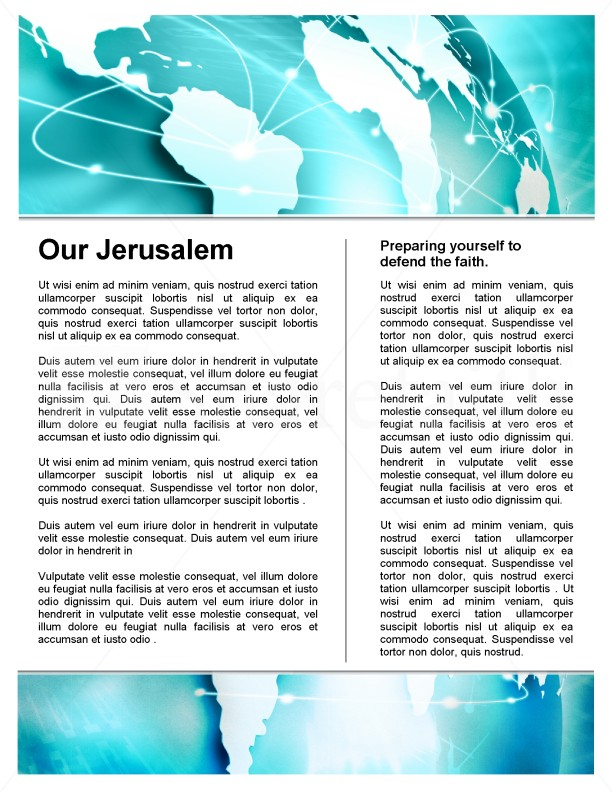 Missions Church Newsletter Template | page 3